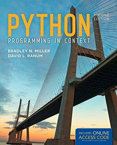 PYTHON PROGRAMMING IN CONTEXT By David L. Ranum |