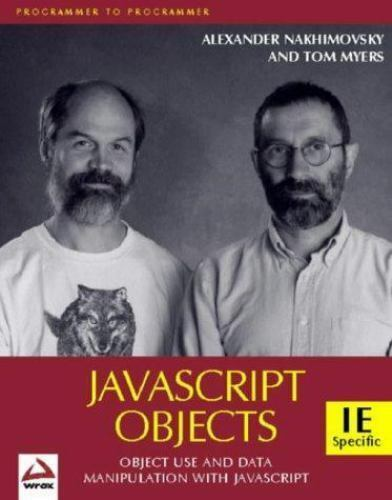 Professional: Java Script Objects by Tom Myers (1998, Paperback)