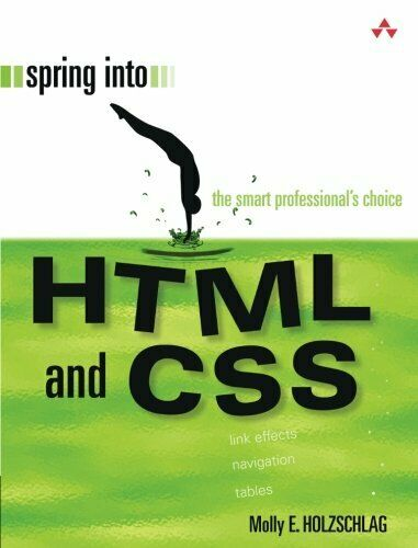 SPRING INTO HTML AND CSS By Molly E. Holzschlag *Excellent Condition* |