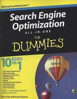 Search Engine Optimization All-in-One for Dummies by Susan Esparza, Ships Free |