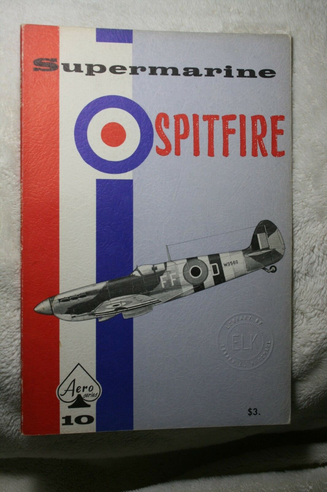 Supermarine Spitfire Aero Series Publishing book # 10 Good Condition |