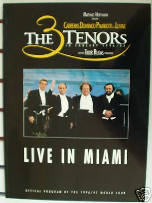 THE 3 TENORS LIVE IN MIAMI OFFICAL PROGRAM 1996/97 |
