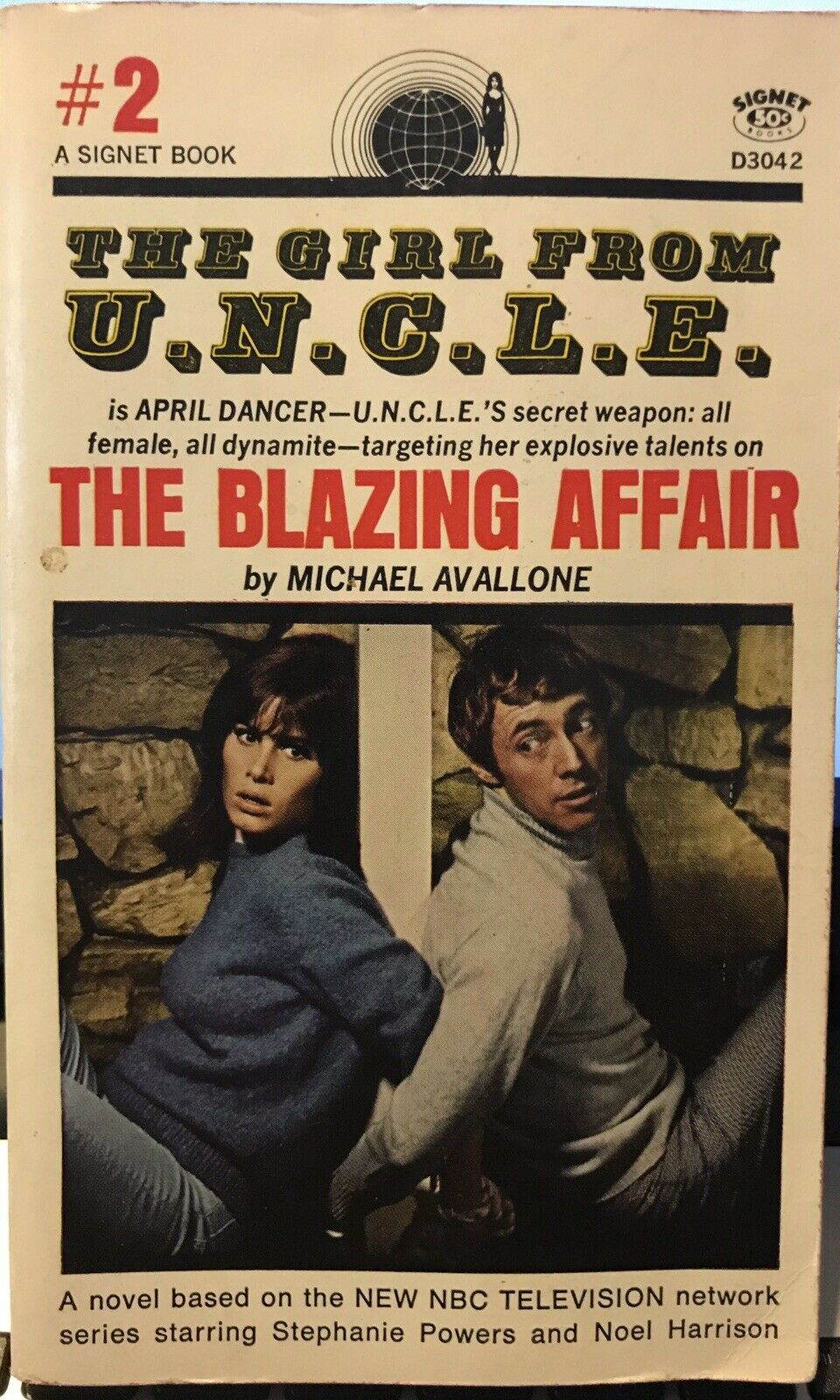 THE GIRL FROM U.N.C.L.E.#2 by Michael Avallone ~ Signet Books #D3042 ~ SCARCE! |