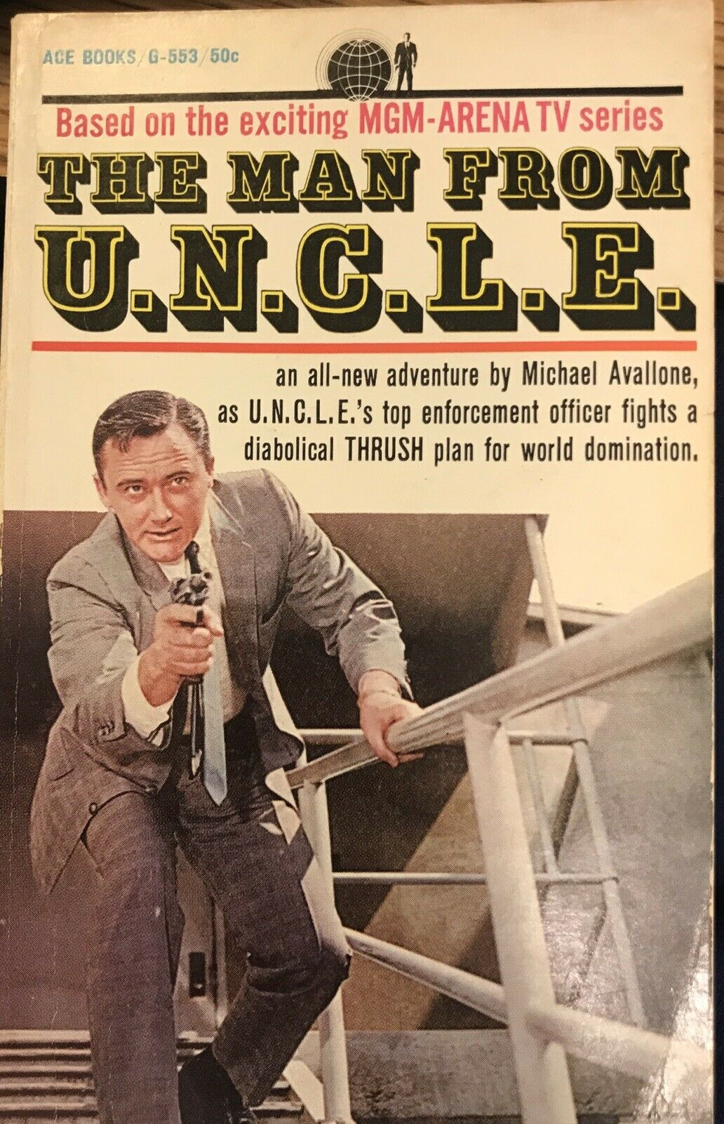 THE MAN FROM U.N.C.L.E. by Michael Avallone ~ ACE Books #G-553 ~ SCARCE! |
