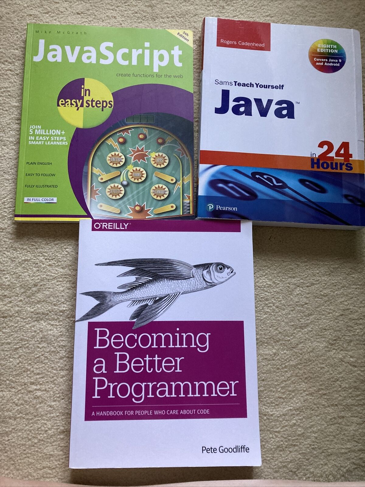 Teach Yourself Java 9 Programming Book Bundle and Android) Very good Condition |