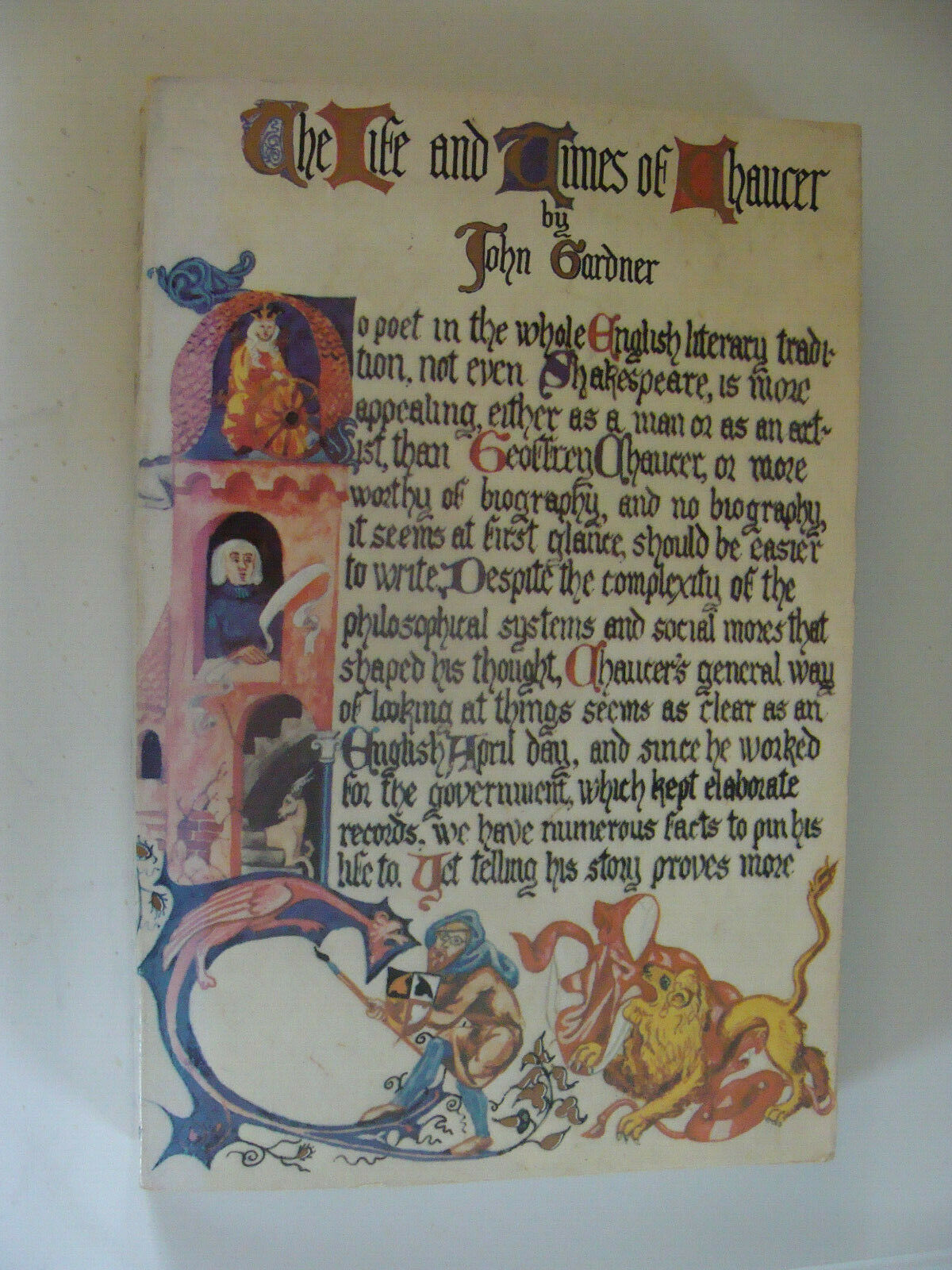 The Life and Times of Chaucer by John Gardner 1977 Geoffrey Chaucer poet |