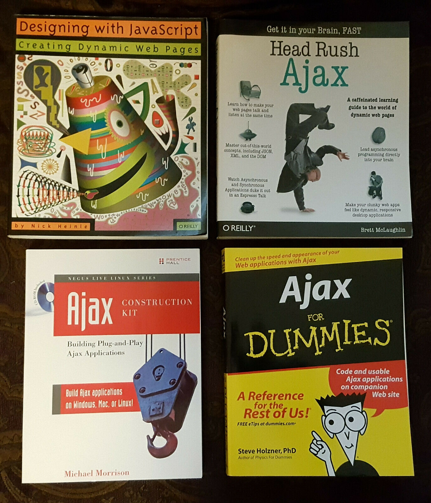 Unusual Ajax computer programming books, CDs, lot of 4, some rare, great shape  