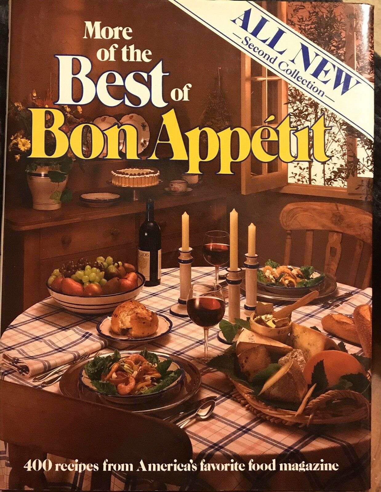 VINTAGE BEST OF BON APPETIT MAGAZINE COOKBOOK 400 RECIPES PHOTOS FIRST EDITION |