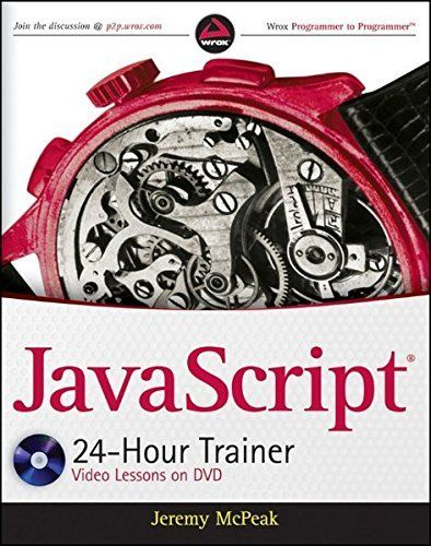 JAVASCRIPT 24HOUR TRAINER By Jeremy Mcpeak *Excellent Condition*