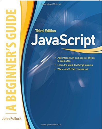JOHN POLLOCK - JavaScript, A Beginner's Guide, Third Edition - ** Brand New **