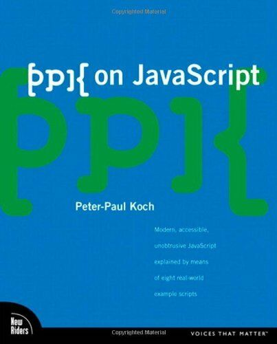 ppk on JavaScript (Voices That Matter) by Koch, Peter-Paul Paperback Book The